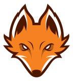 Logotype do esporte da cabeça do Fox Mascote Imagens de Stock