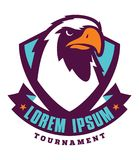 Logotype do esporte de Eagle para a equipe da faculdade Fotos de Stock Royalty Free