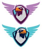 Logotype do esporte de Eagle para a equipe da faculdade Fotos de Stock