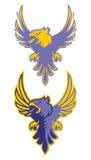 Logotype do esporte de Eagle para a equipe da faculdade Isolado no fundo branco Fotografia de Stock Royalty Free