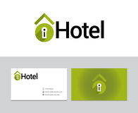 Logotype do hotel Fotografia de Stock
