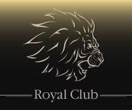 Logotype do leão Fotografia de Stock