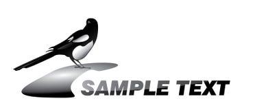 Logotype do Magpie ilustração royalty free