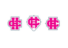 Logotype do monograma da letra C e do H emblema Imagens de Stock