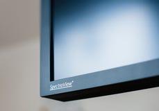 Logotype do Nec Spectraview no monitor da parte alta Fotos de Stock Royalty Free