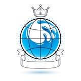Logotype do vetor do tema do frescor do oceano Propaganda do dia da água ilustração royalty free