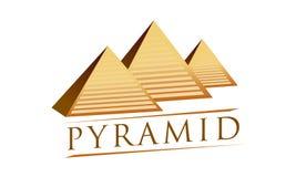 Logotype egiziano di vettore delle piramidi illustrazione vettoriale