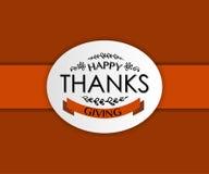 Logotype felice di giorno di ringraziamento Immagine Stock