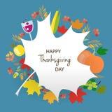 Logotype felice di giorno di ringraziamento Immagini Stock Libere da Diritti
