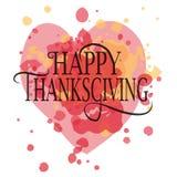 Logotype felice di giorno di ringraziamento Fotografie Stock