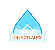 Logotype with French Alps Royalty Free Stock Photo