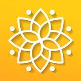 Logotype géométrique simple de mandala Logo circulaire pour la boutique, fleuriste, affaires, intérieures Photos stock