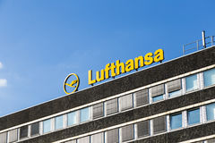 Logotype of German Airline Lufthansa Royalty Free Stock Image