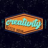 Logotype inspirador do colorfull do vintage Imagens de Stock