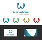 Logotype, logo, logo design, letter , business, corporate, brand, identity, letter w, w-letter, creative, multipurpose, abstract, Royalty Free Stock Image