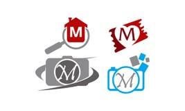 Logotype M Modern Template Set illustration de vecteur