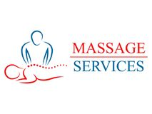 Logotype for massage salon and health treatments. SPA, physiotherapy, relaxation stock illustration