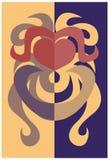 Logotype met hart Stock Foto's