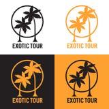 Logotype met palmes Vector beeld Royalty-vrije Stock Foto's
