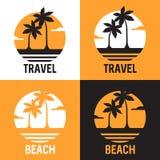 Logotype met palmes Vector beeld Stock Fotografie