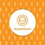 Logotype minimalistic soleggiato del forno di vettore con Immagini Stock