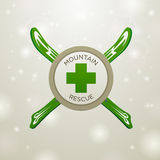 Logotype mountain rescue Stock Images