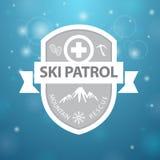 Logotype mountain ski patrol rescue Royalty Free Stock Photos