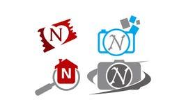 Logotype N Modern Template Set. Vector Royalty Free Stock Image