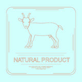 Logotype of natural product Royalty Free Stock Photography