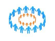 Logotype orange circle in circle Royalty Free Stock Image