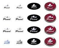 Logotype Pearl Royalty Free Stock Image