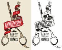 Logotype pour le raseur-coiffeur illustration libre de droits