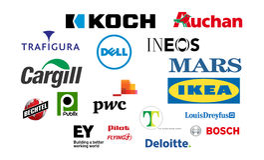 Logotype private companies Royalty Free Stock Photos
