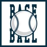Logotype professionnel moderne pour une ligue de base-ball Style de sport Photographie stock libre de droits