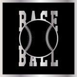 Logotype professionnel moderne pour une ligue de base-ball Style de sport Images stock