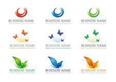 Logotype set 2 Royalty Free Stock Photography
