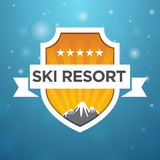 Logotype ski resort five star Royalty Free Stock Photo