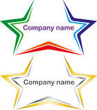 Logotype stars Royalty Free Stock Images