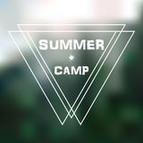 Logotype for a summer camp. Vector illustration Stock Photography
