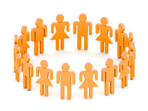 Logotype team. Logotype orange 3D team of people Stock Photo