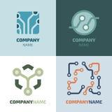 Logotype. Template of electronics logotype. Computer branding elements Royalty Free Stock Photo