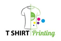 Abstract modern colored vector logo template of t-shirt printing. For typography, print, corporate identity, workshop, branding, f vector illustration