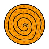 Logotype tirado mão do logotipo da serpente para para artigos das camisas dos pinos t das etiquetas do fundo da apresentação das  ilustração do vetor