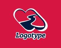 Logotype transport, road, love, highway. Logotype transport, road, love, highway Road maintenance Logo road repair Royalty Free Stock Photos