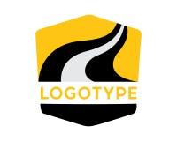 Logotype transportation, road, highway. Logotype transportation, road, highway on white background Royalty Free Stock Images