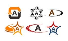Logotype un insieme moderno del modello Fotografia Stock Libera da Diritti