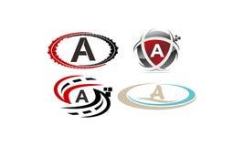 Logotype un insieme moderno del modello Immagini Stock Libere da Diritti