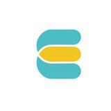 Logotype variopinto creativo della lettera E Fotografia Stock