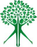 Logotype verde dos corpos humanos da árvore Fotos de Stock