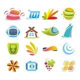 Logotypereeks Stock Foto